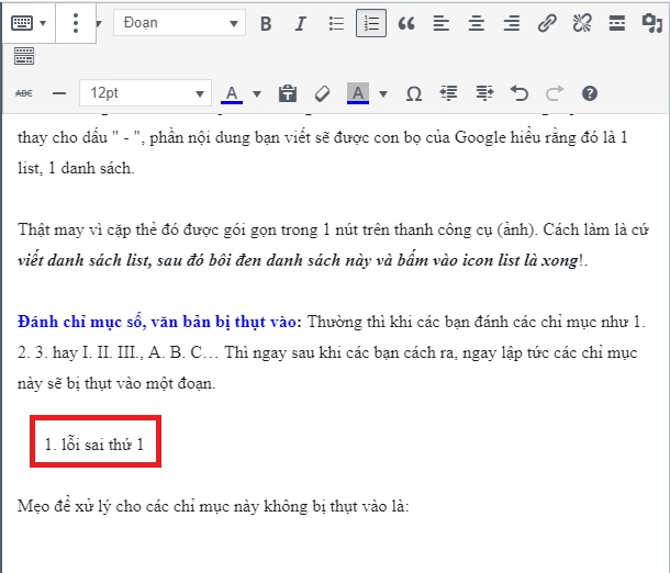 lỗi sai cơ bản khi viết bài chuẩn seo cho website